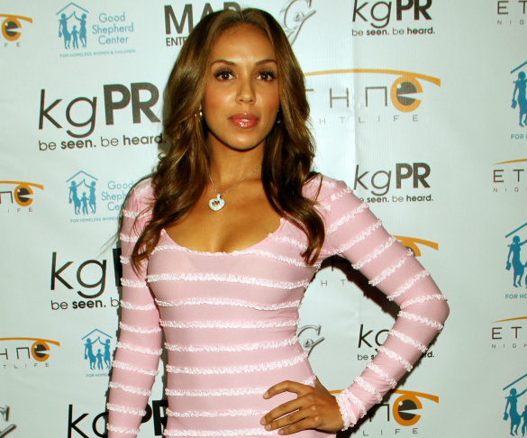 In this Dec. 6, 2012 file photo, Stephanie Moseley attends Good Shepherd Center for Homeless Women & Children Holiday Toy Drive at Crocker Club in Los Angeles. Los Angeles police say 34-year-old rapper Earl Warren Hayes apparently shot and killed his wife Moseley and himself at a Los Angeles apartment. Police say the bodies were discovered Monday morning, Dec. 8, 2014.