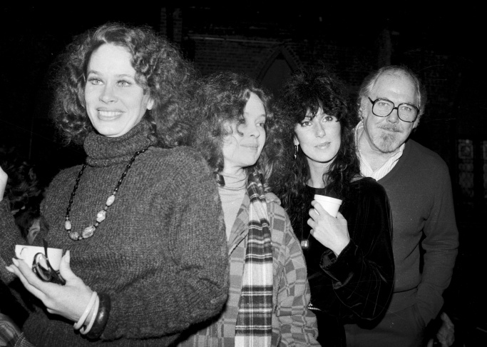 Dec. 29, 1981: Director Robert Altman, right, poses with actresses, from left, Karen Black, Sandy Dennis and Cher in New York City.