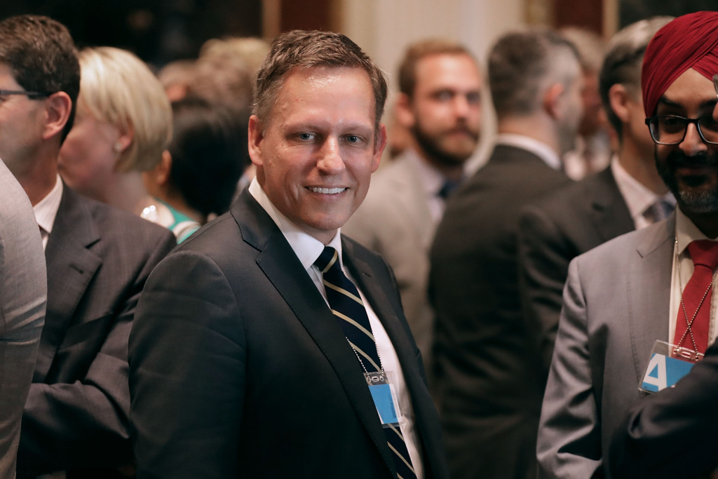 Venture capitalist Peter Thiel of the Founders Fund attetnds the inaugural meeting of the American Technology Council in the Indian Treaty Room at the Eisenhower Executive Office Building on June 19, 2017 in Washington, DC.