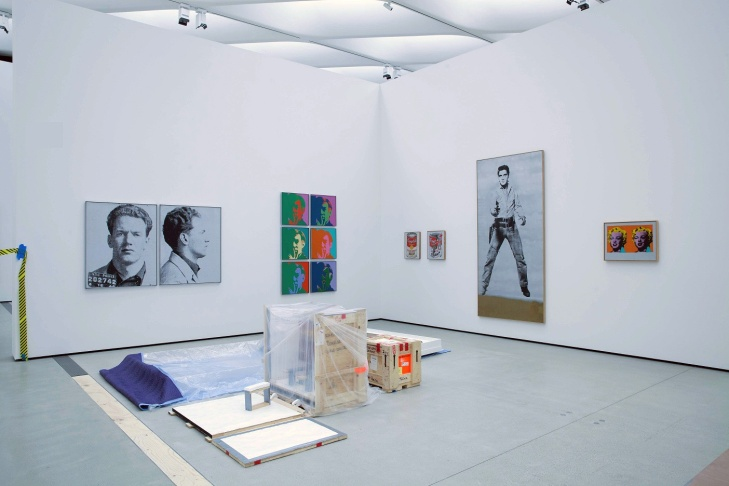 Installation of works by Andy Warhol in The Broad's third floor gallery.