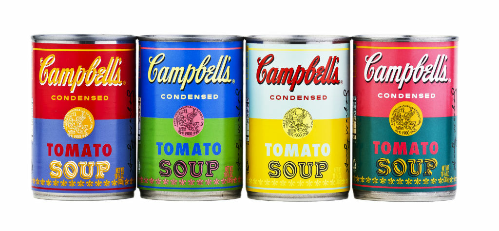 The Warhol themed soup cans will be exclusively available at most Target locations nationwide, while supplies last.