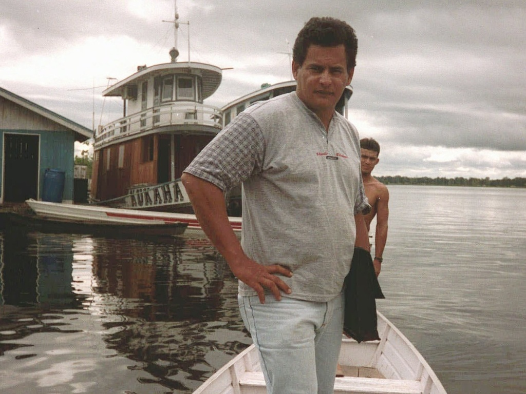 Reili Franciscato, pictured in 1997, on the Purus River in Brazil. Franciscato died Wednesday in the Amazon rainforest, shot with an arrow.