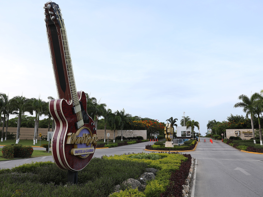 The entrance of the Hard Rock Hotel & Casino is seen this month in Punta Cana, Dominican Republic. A tourist died unexpectedly after getting sick two months ago at the hotel.