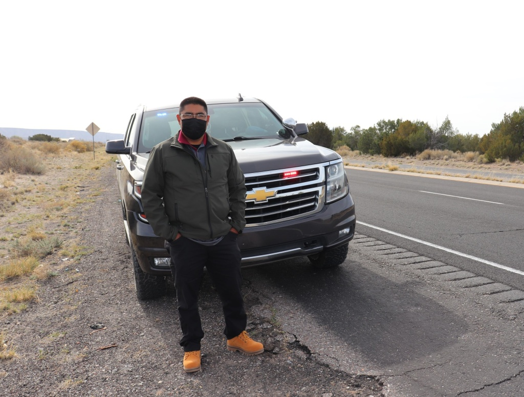 Jerome Lucero is the governor of Zia Pueblo in New Mexico, and one of its police officers.