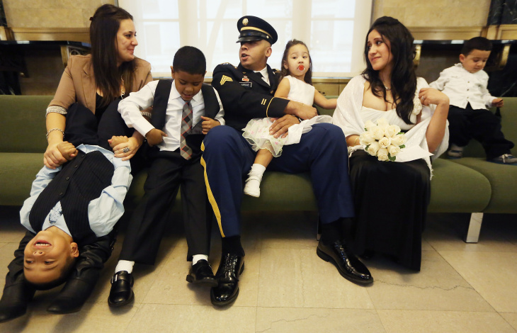 Afghanistan War Veteran Married In New York's City Hall Marriage Bureau