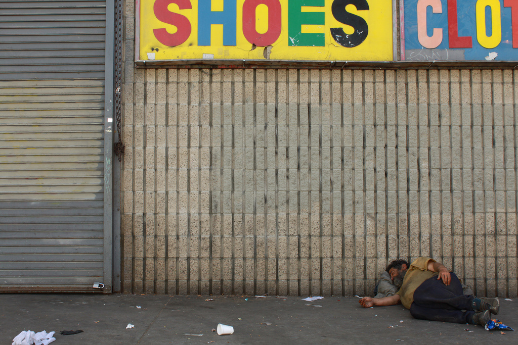 Skid Row in Los Angeles.
