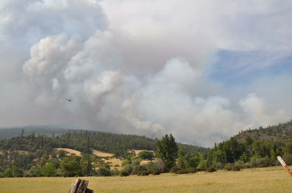 Helicopter working the Beaver Fire.