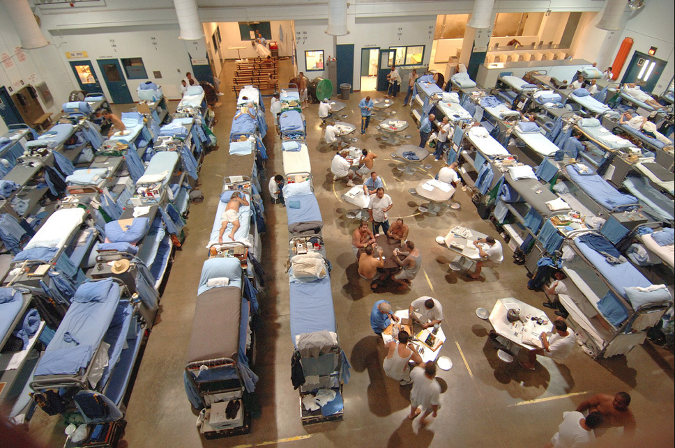 Mule Creek Prison's design capacity is for 1,700 prisoners. At one point the prison housed 3,769 prisoners.