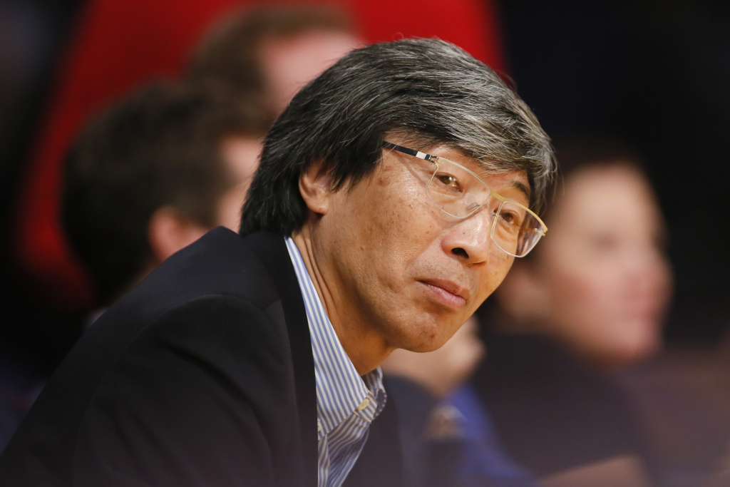 Dr. Patrick Soon-Shiong is seen courtside at a Lakers game in Los Angeles in this Feb. 11, 2014 file photo.