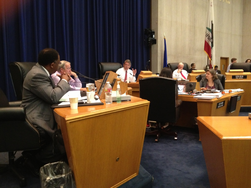 LA County Board of Supervisors discuss the prospect of creating two Sheriff's Department oversight entities, part of the recommendations made by an independent citizens commission that investigated deputy-on-inmate violence in the jails.