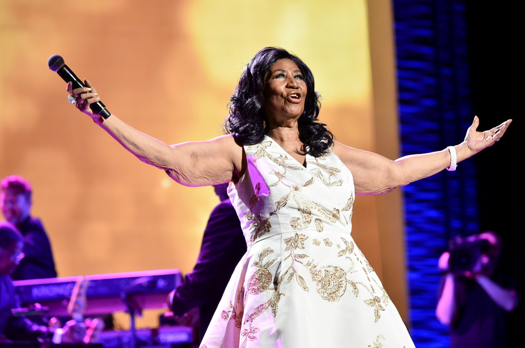 Aretha Franklin performs onstage during the