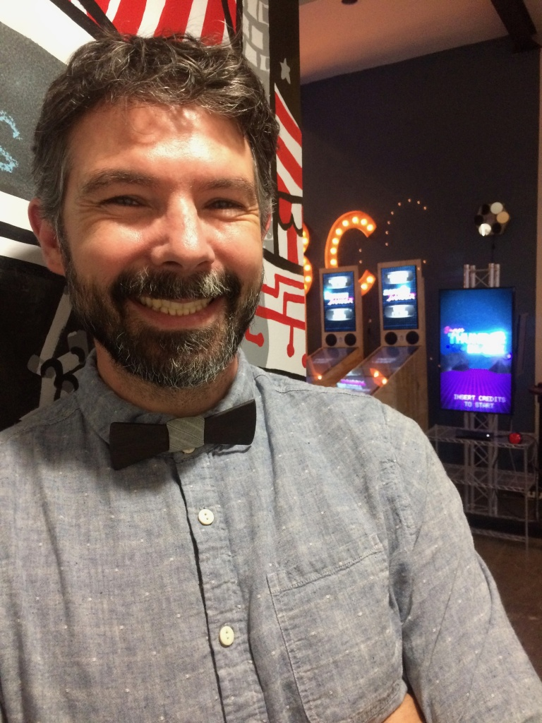 Two Bit Circus co-founder Brent Bushnell's in the Midway, the company's game showroom which takes its name from old timey midway carnival games. Bushnell's father, Nolan Bushnell founded Atari and Chuck-e-Cheese restaurants.