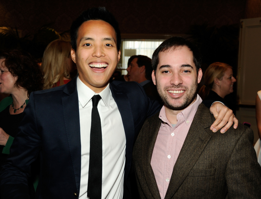 Alan Yang and Harris Wittels attend the 12th Annual AFI Awards held on January 13, 2012 in Beverly Hills, California.