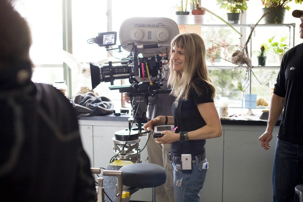 Catherine Hardwicke on the set of