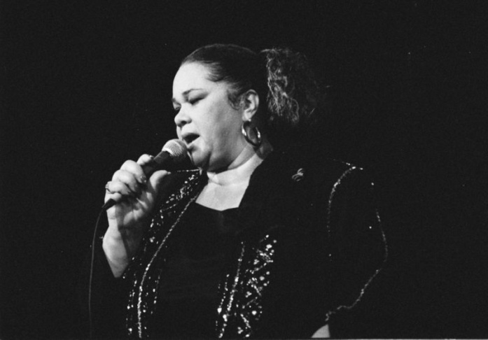 Etta James performed at the 2009 New Orleans Jazz & Heritage Festival at the Fair Grounds Race Course in New Orleans.