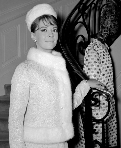 Natalie Wood poses in a Yves Saint Laurent costume, Sept. 19, 1964 in Paris.
