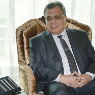 A picture taken on June 4, 2014 in Ankara, shows Andrey Karlov, the Russian ambassador to Ankara.