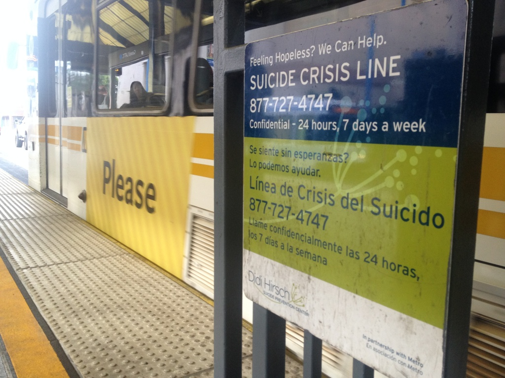 Signs helped reduce suicide by train in Los Angeles, officials say | 89.3 KPCC