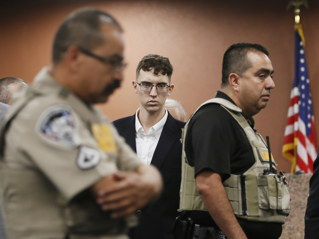 El Paso Walmart shooting suspect Patrick Crusius, shown here during his capital murder arraignment in El Paso, Texas, is accused of killing 22 people.