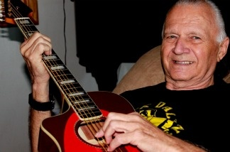 The King of Surf Guitar, Dick Dale, at his desert ranch near Joshua Tree. The 73-year old musician is back with a new greatest hits collection and is about to kick off his 'Electric Acoustic' tour.