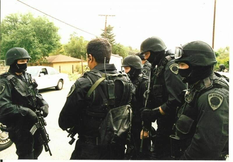 San Bernardino Police SWAT team members in an undated photo.