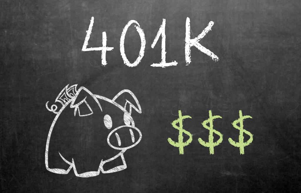 401K on Chalkboard