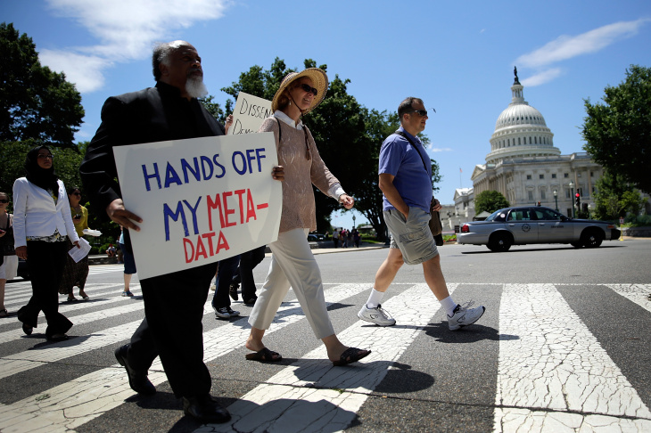 Activists Groups Protest NSA Surveillance Program