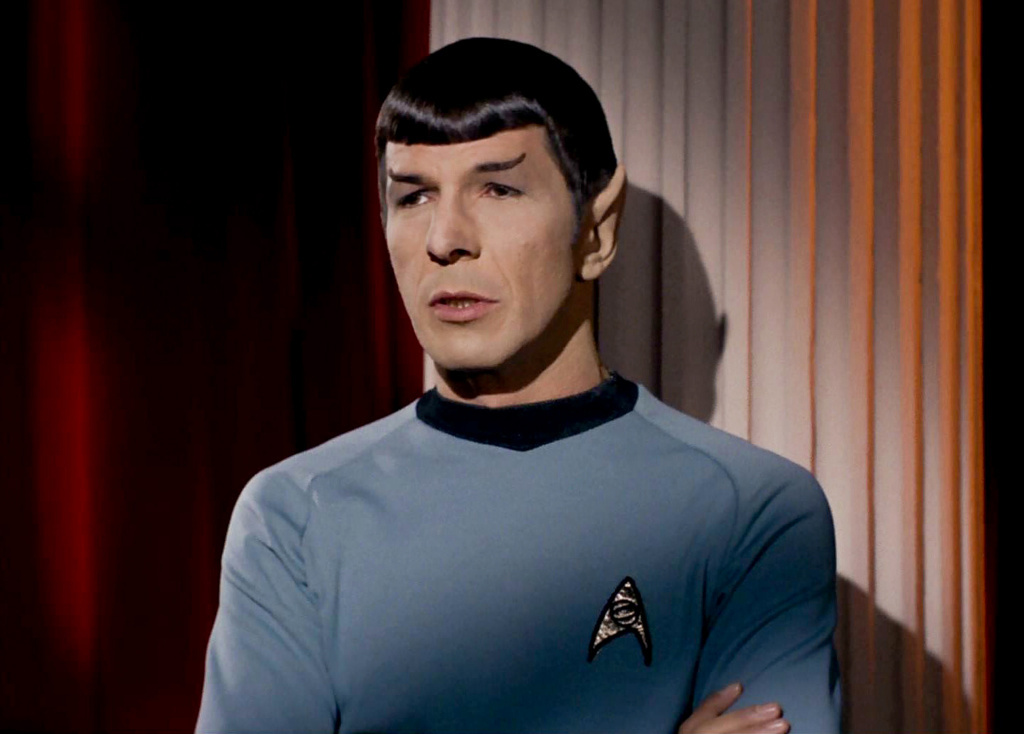 Leonard Nimoy as Mr. Spock in the <em>Star Trek</em> episode,