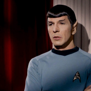 "Leonard Nimoy as Mr. Spock in the Star Trek episode, ""Plato's Stepchildren"" in 1968."