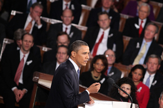 President Barack Obama addresses a Joint Session of Congress while delivering his State of the Union speech January 25, 2011 in Washington, DC. Approval ratings for Congress started the year at about 20 percent, and are now just 11 percent.