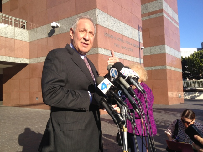 Mark Geragos, attorney for State Senator Ron Calderon, says his client