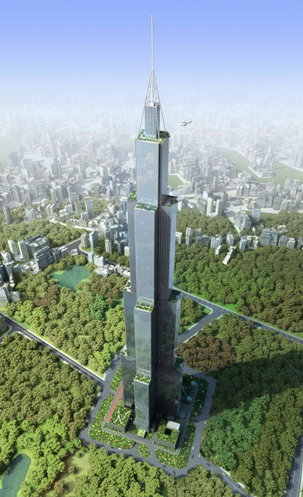 Artist conception of the proposed J220 Sky City Changsha.