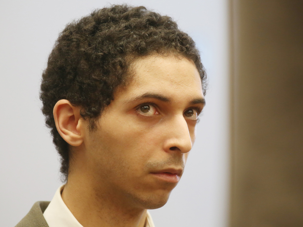 Tyler Barriss at a preliminary hearing in May 2018 for the