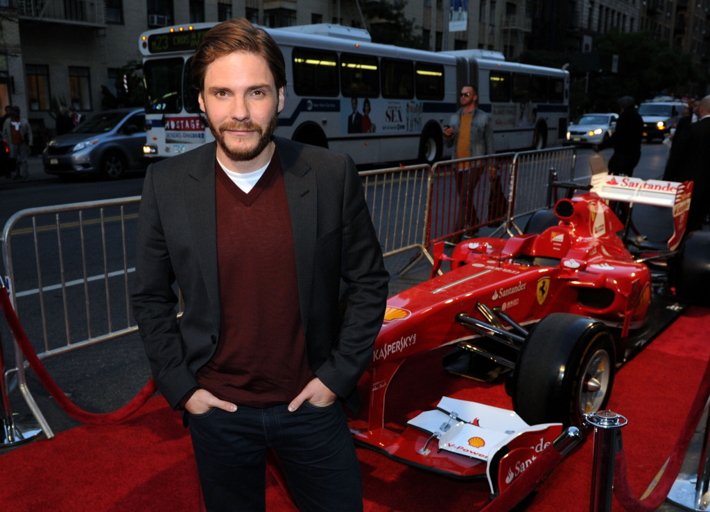 Actor Daniel Bruhl attends the Ferrari and The Cinema Society Screening of 'Rush' at Chelsea Clearview Cinemas on September 18, 2013 in New York City.