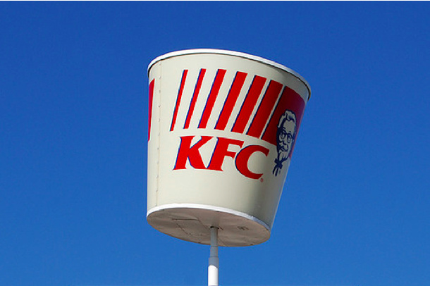 fast food signs kfc kentucky fried chicken
