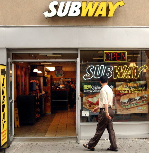 Subway is the largest food chain to qualify for the Choose Health LA Restaurants program. (Photo by Stephen Chernin/Getty Images)