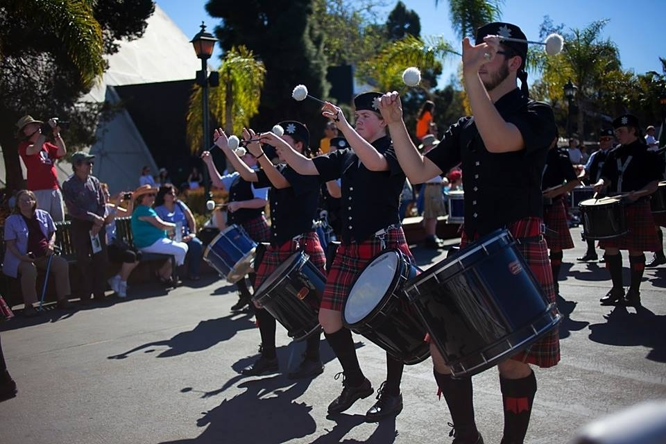 Photo of musical performers at the Queen Mary ScotsFestival in Long Beach.