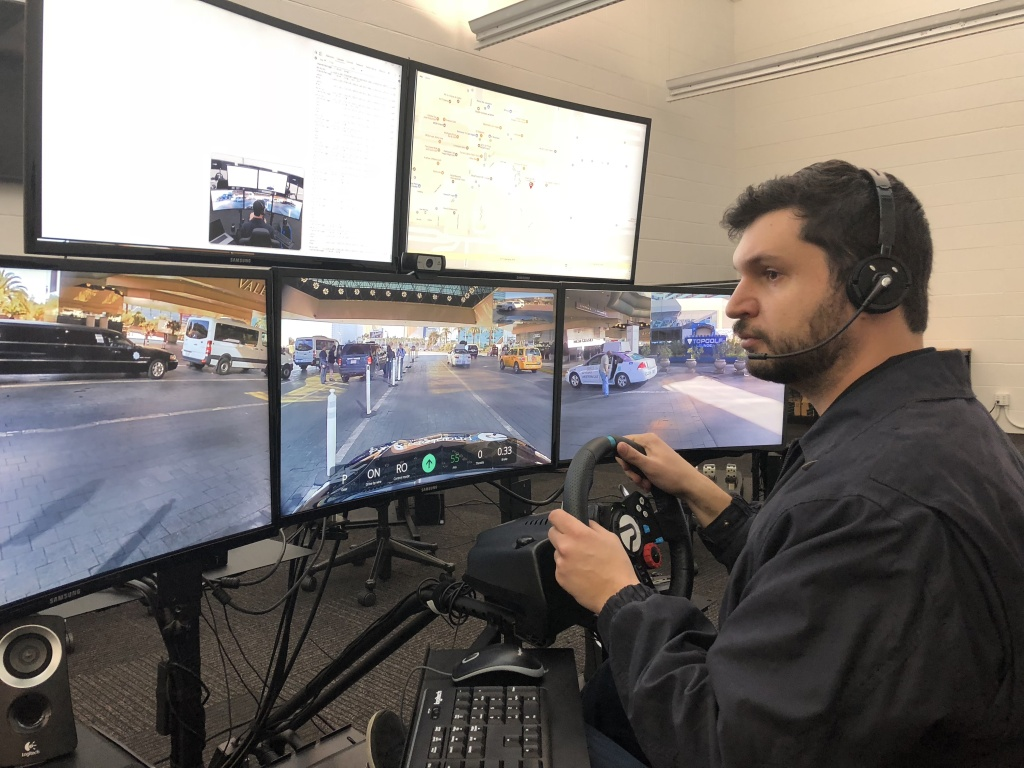 Phantom Auto lets drivers take remote control of a self-driving car from hundreds of miles away.