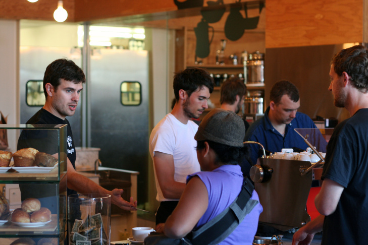 File: Inside Intelligentsia Coffee in Silver Lake.