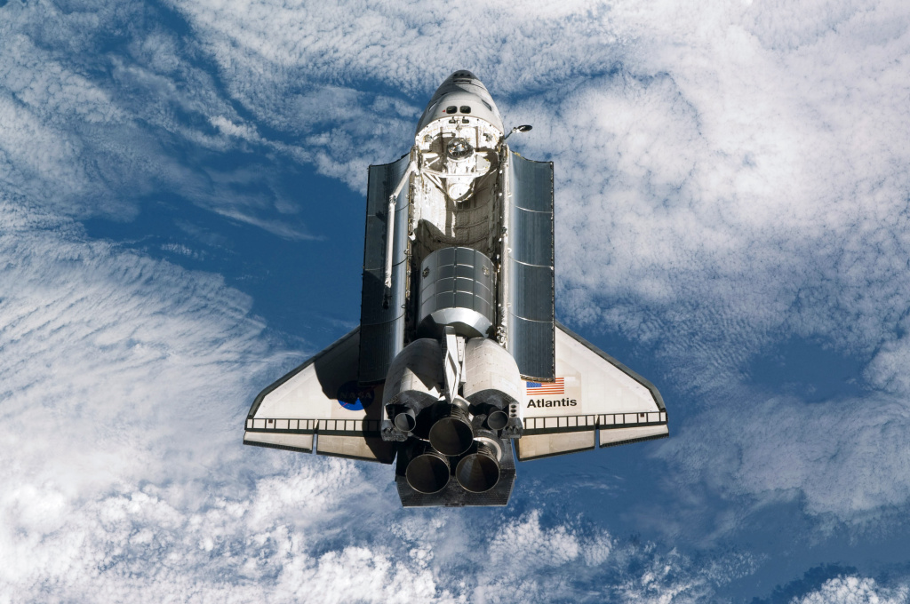 IN SPACE - JULY 10:  In this handout image provided by the National Aeronautics and Space Administration (NASA), NASA space shuttle Atlantis in Earth orbit.