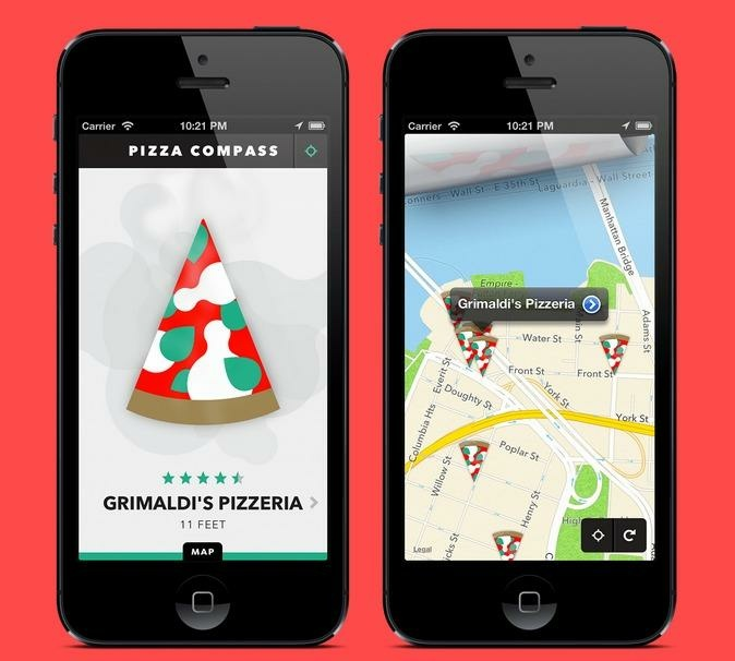 Image of the Pizza Compass app.