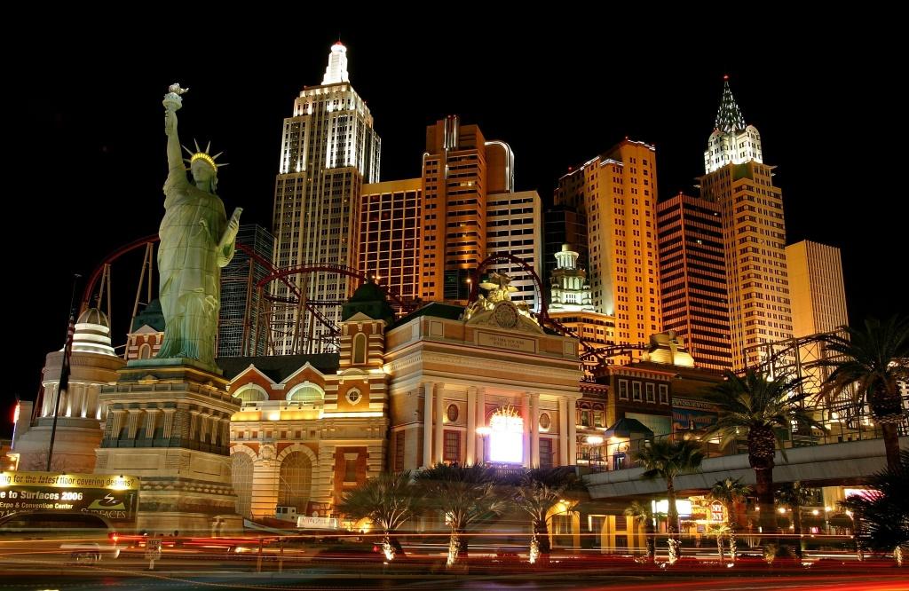 Exterior photo of the New York-New York Hotel & Casino February 1, 2006 in Las Vegas, Nevada.