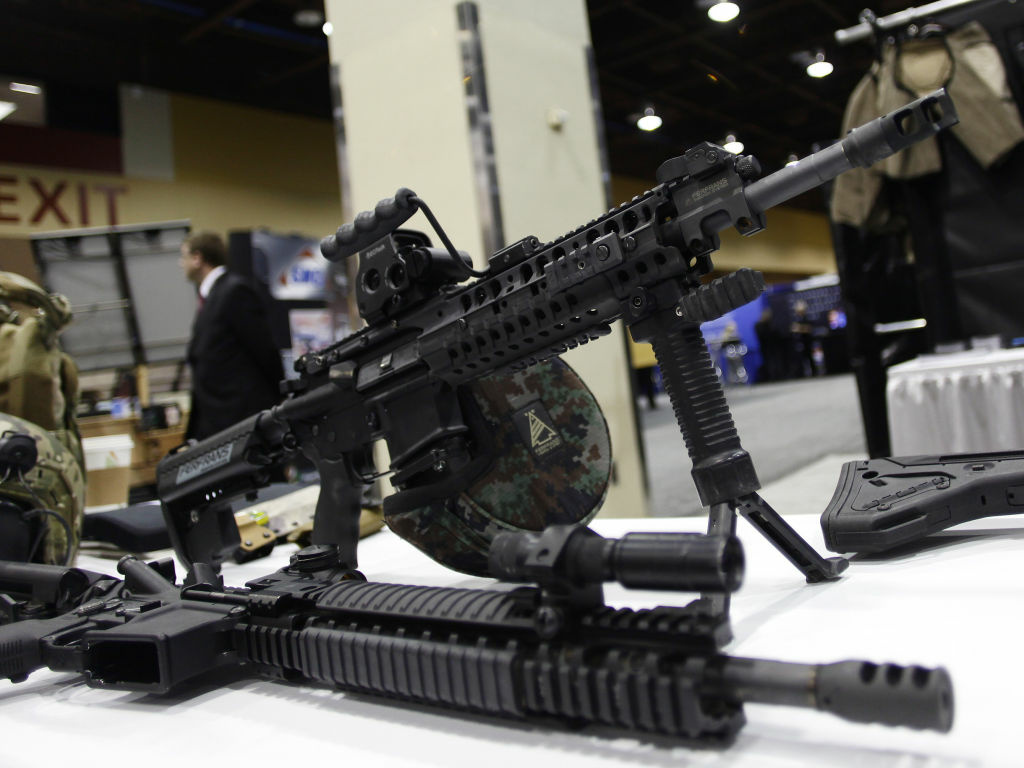 This AR-15 style weapon was on display in March at the 7th annual Border Security Expo in Phoenix, Arizona.
