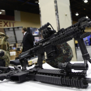 This AR-15 style weapon was on display in March at the 7th annual Border Security Expo in Phoenix, Ariz. It's among the type of weapons that advocates of new gun laws want to see banned.