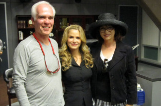 Gil Garcetti, Kyra Sedgwick, and Patt on the set of The Closer