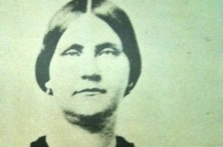 Portrait of Mary Surratt, convicted for conspiring to assassinate President Lincoln in 1865. She was the first woman to be hanged by the U.S. government.