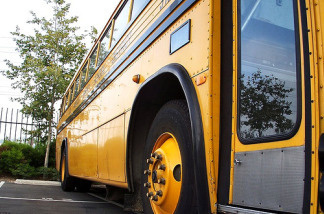 A Los Angeles Unified School District bus.