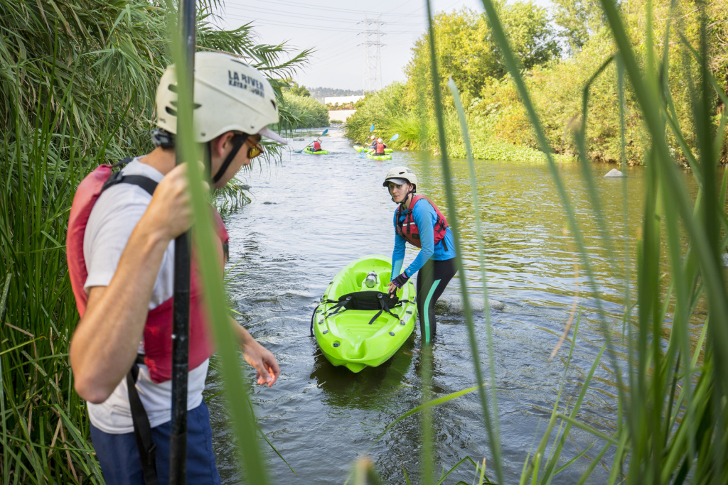 Friends of the LA River lead guided tours via kayak along the river.