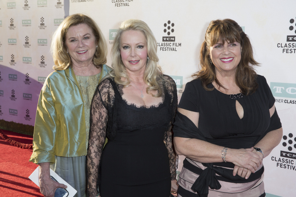 Heather Menzies-Urich, from left, arrives with Kym Karath and Debbie Turner at the 2015 TCM Classic Film Festival Opening Night Gala