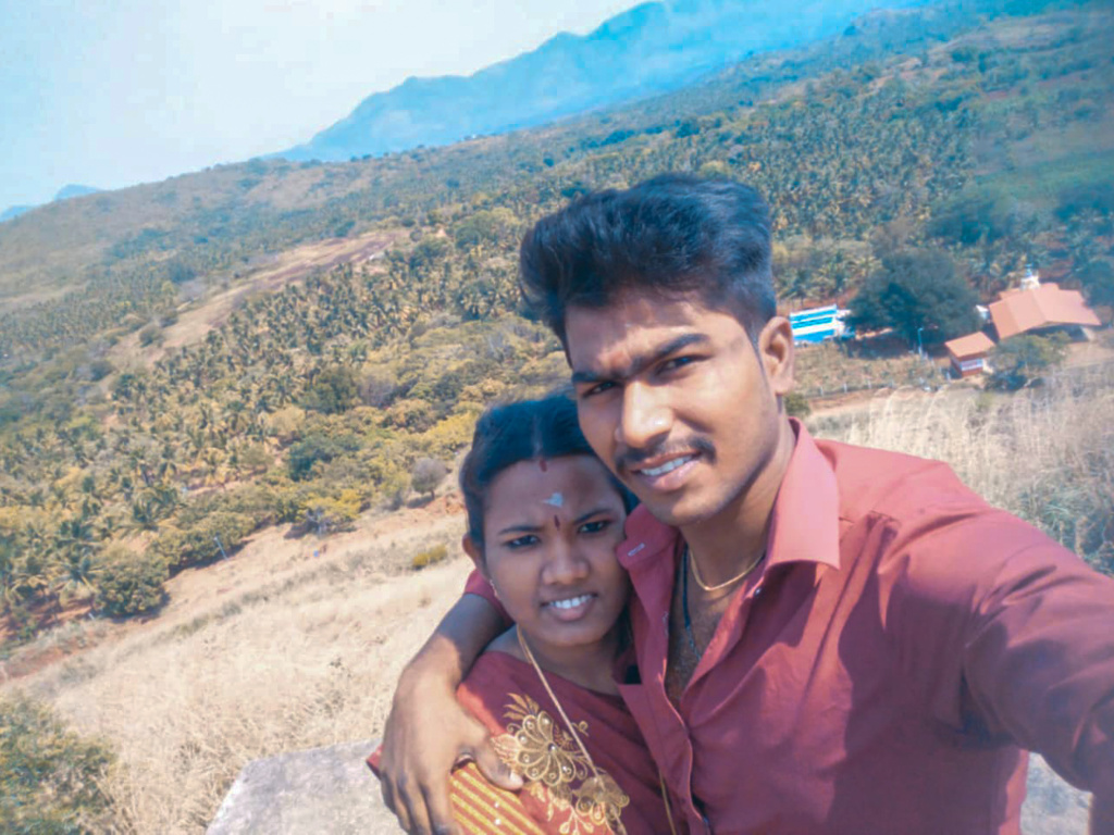 Ezhil Arasi (left) and Ranjith Kumar. The pandemic kept her from her pregnancy checkups. Their baby was born with an intestinal blockage that required surgery and died during the procedure. Doctors told Ranjith that if his wife had been examined regularly during her pregnancy, there could have been a different outcome.